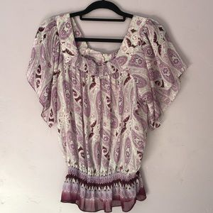 🌺Mudd sheer blouse size large